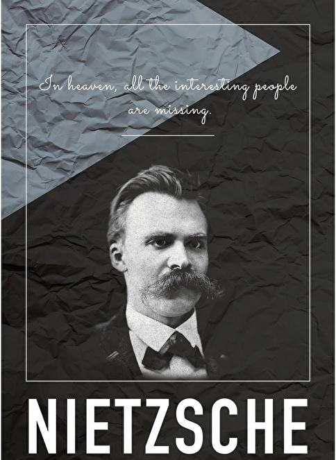 Decarthome Friedrich Nietzsche Poster Renkli